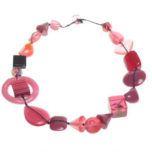 A Jackie Brazil Indiana short necklace in pink